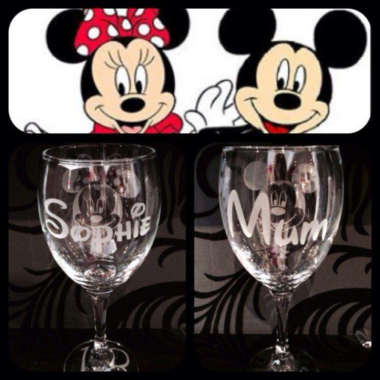 Hand Engraved Disney Glasses