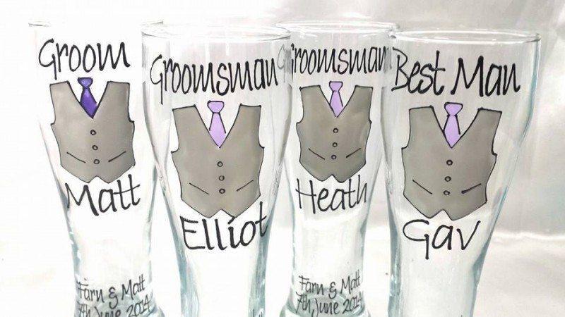 Groomsmen Set of Glasses