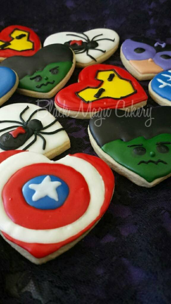 Little Heart Avengers Cookies