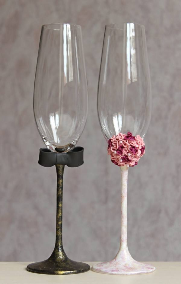 Swarovski Crystal Champagne Flutes
