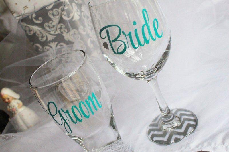 Monogrammed Wedding Glasses