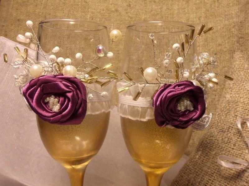 Violet Rustic Glasses