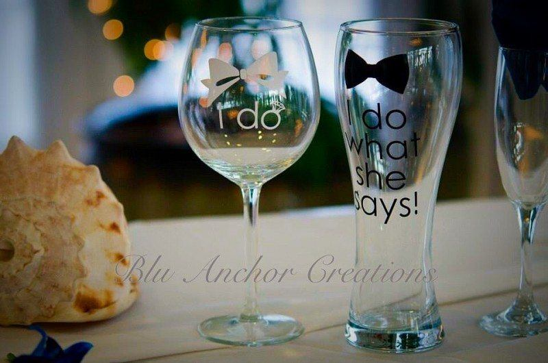 Personalized Funny Wedding Glasses