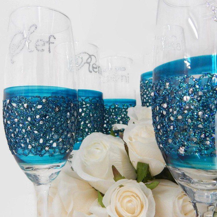 Blue Lace Glasses