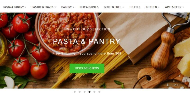 italian food online store home page