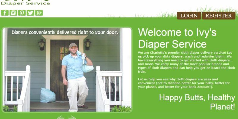 ivy's diaper service home page