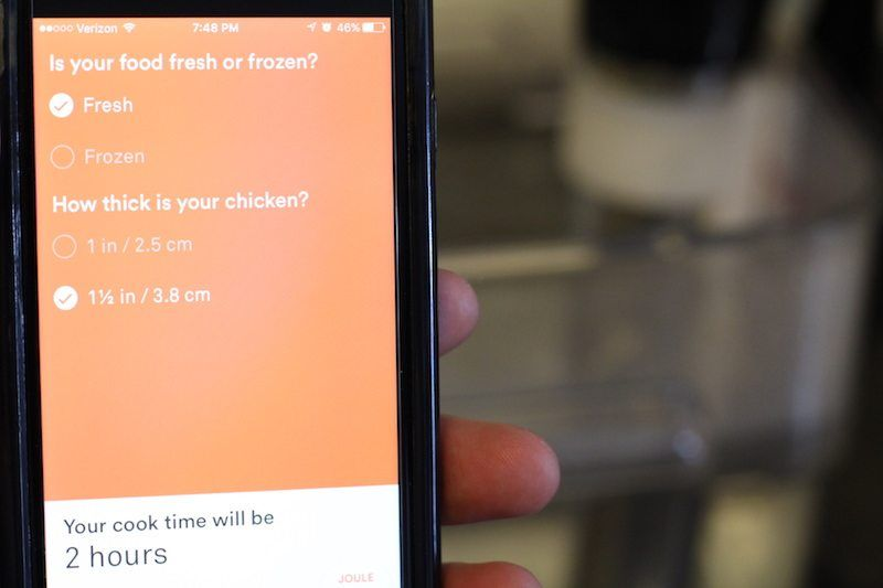 use ChefSteps app to cook your food properly based on type of meat, thickness, and fresh/frozen