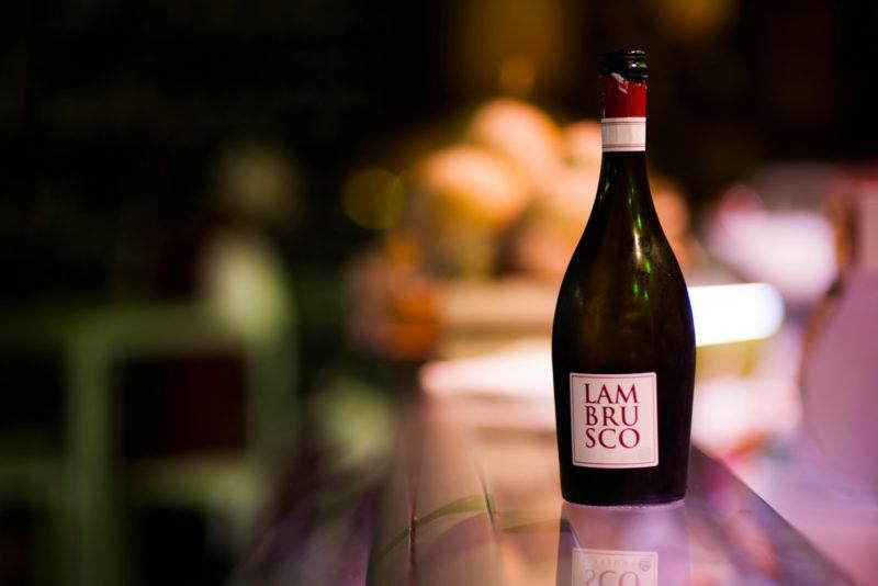 lambrusco wine bottle