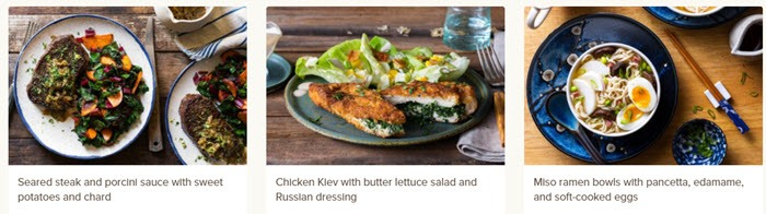 mouth watering meal options from sun basket weight loss option