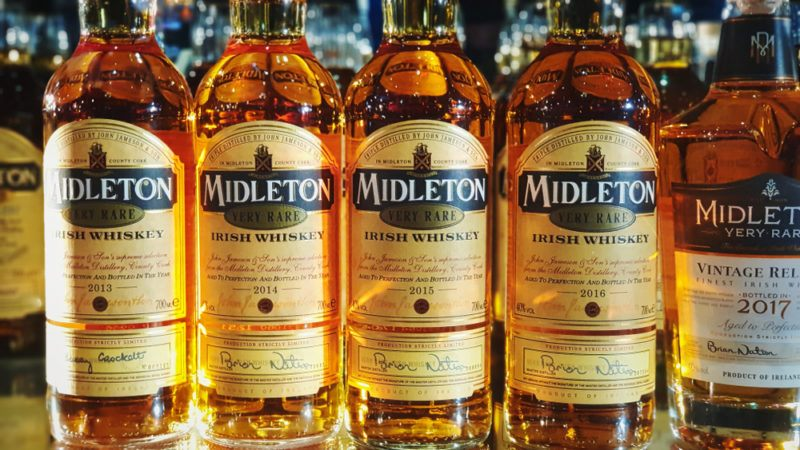 midleton irish whiskey bottles
