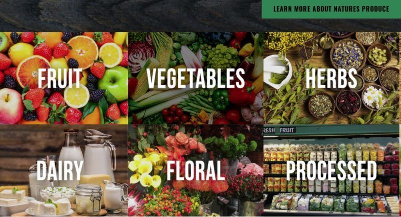 nature's produce home page