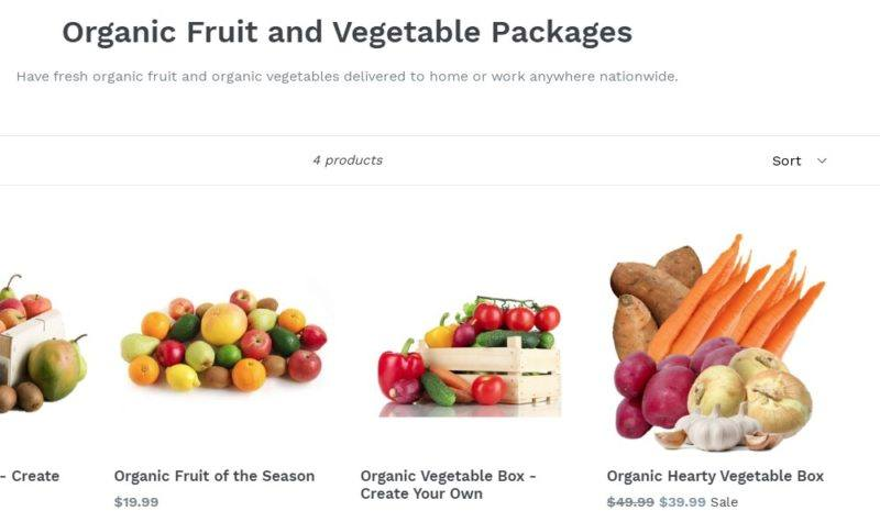organic mountain farm delivery page
