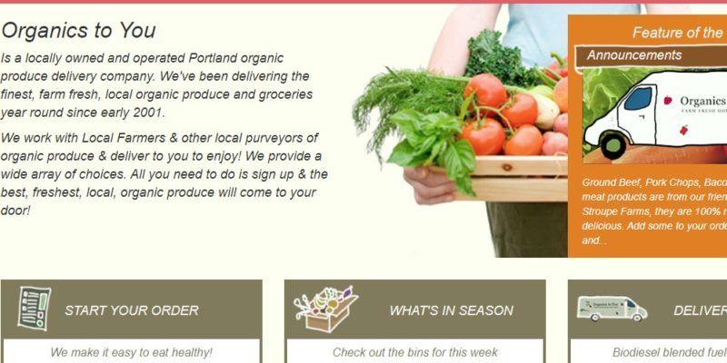 organics to you home page