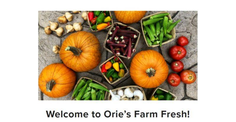 orie's farm fresh home page