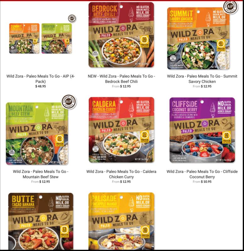 wild zora meals screenshot