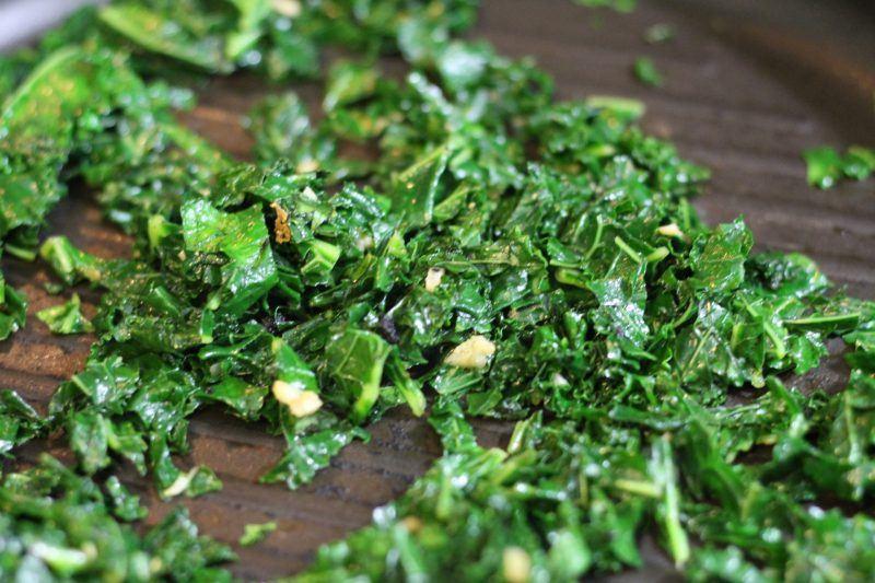 pan fry kale