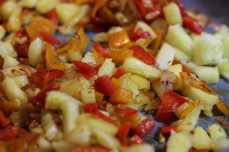 pineapple pepper cooking