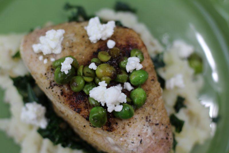 pork chops potatoes vertical