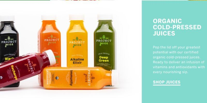 project juice home page