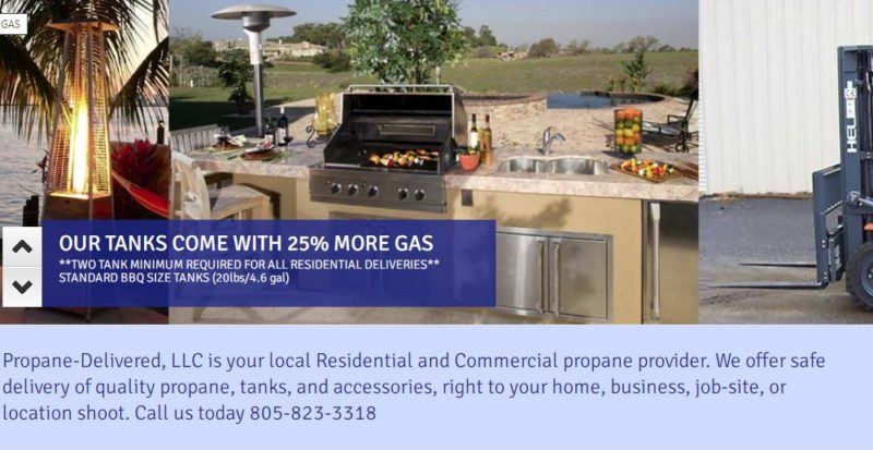 propane delivered home page