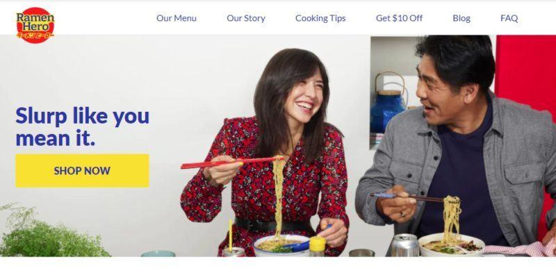 ramen hero home page