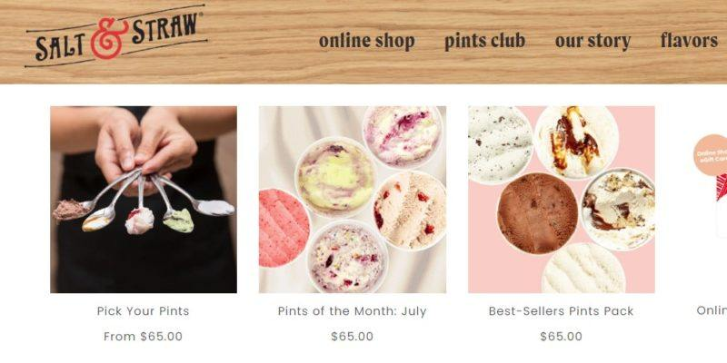 salt and straw collections page