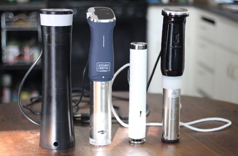 comparing the sansaire, kitchen gizmo, joule, and gsv150 immersion circulator