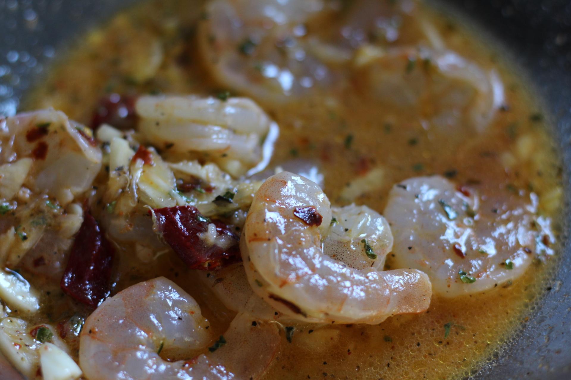 shrimp marinating