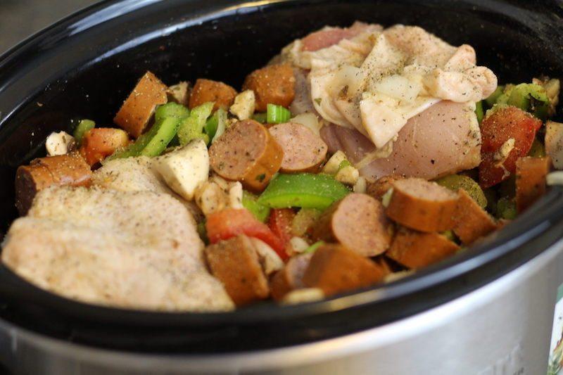 slow cooker jambalaya chopped raw