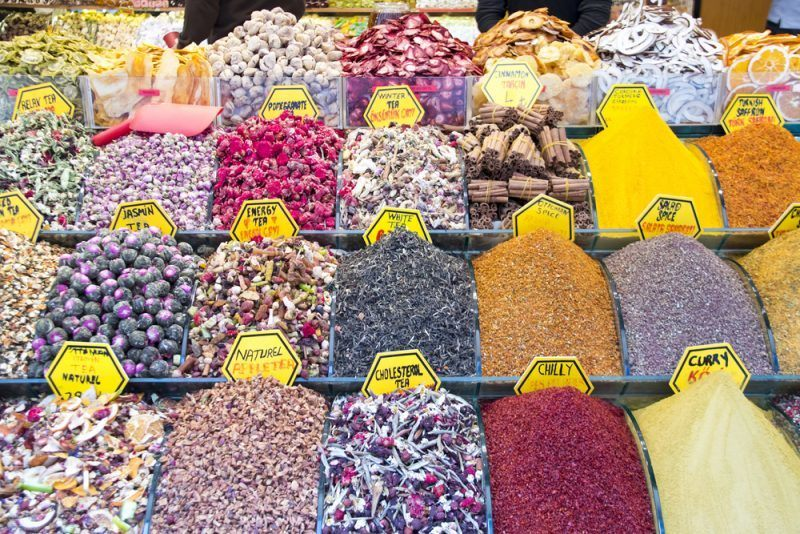 color spices in a bazar showing what you could potentially receive in a monthly spice club