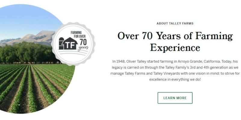 talley farms home page