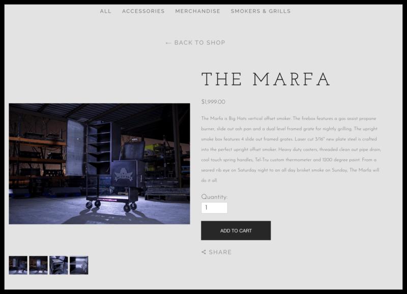 the marfa big offset vertical smoker screenshot