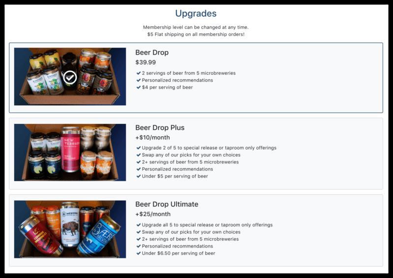upgrade beer drop membership plus vs ultimate