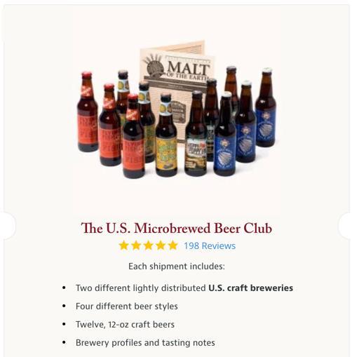 screenshot of us microbrew club beer